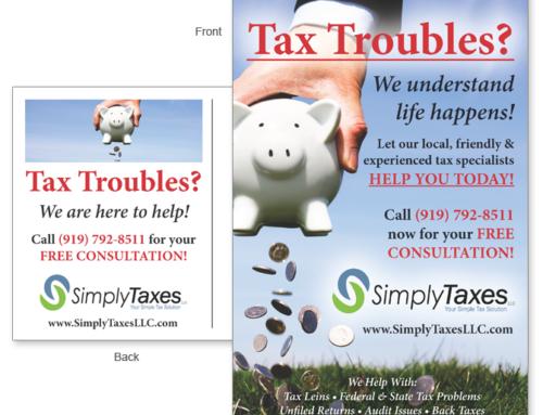 Tax Troubles Postcard
