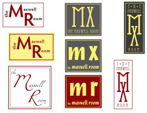 Maxwell Room Logo Concepts